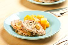 Free Pork Chops With Fall Vegetables Stock Photos - 15791663