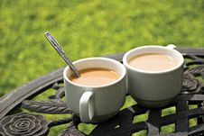 Free Two Cups Of Coffee Royalty Free Stock Image - 15792116