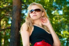 Free Portrait Of The Girl In Sun Glasses Royalty Free Stock Images - 15792539
