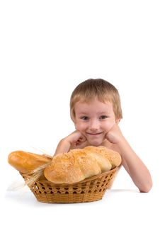 Free Happy Boy With The Bread Royalty Free Stock Photo - 15792775