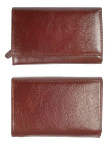 New Brown Leather Wallet Stock Photo