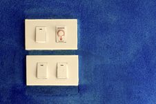 Free Light Switch On Blue Royalty Free Stock Images - 15793459