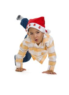 Free Boy With Santa Claus Hat Royalty Free Stock Photos - 15793518