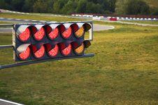 Free Traffic Light On Sport Track Royalty Free Stock Photo - 15794725