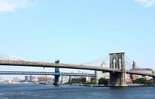 Free Brooklyn Bridge NYC Royalty Free Stock Photo - 15794835