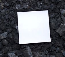 Free Sheet Of Paper On Coal Stock Photo - 15795010
