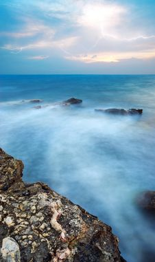 Free Sea At Storm Royalty Free Stock Photo - 15795215