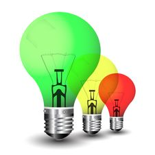 Free Colored Light Bulbs In Multitude Royalty Free Stock Photos - 15795328