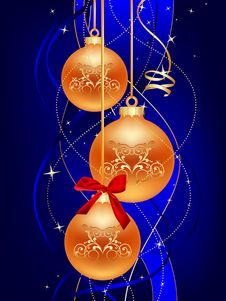 Free Blue Christmas Ball Royalty Free Stock Photos - 15795668