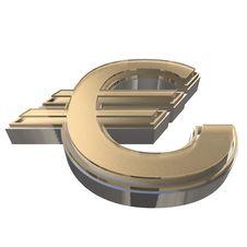 Free Golden EURO Isolated On A White Royalty Free Stock Photos - 15796128