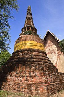 Free Pagoda In Ayuthaya Center Of Thialand Royalty Free Stock Photos - 15796398