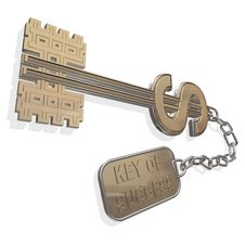 Free 3d Key Dollar Isolated On A White Royalty Free Stock Images - 15796399