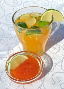 Fresh Juice And Jam Stock Photography