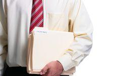 Free Man Holding Folders Royalty Free Stock Photography - 15797517
