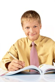 The Schoolboy The Teenager Stock Photos