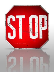 Free Old Stop Sign Stock Photo - 15798780
