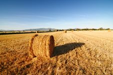 Free Rolls Of Hay Against Mountains. Royalty Free Stock Image - 15798956