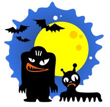 Two Halloween Monsters Stock Photos