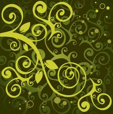 Green Floral Pattern Royalty Free Stock Photography