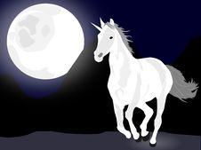 Free White Running Unicorn Royalty Free Stock Image - 15799456