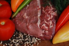 Free Raw Beef And Vegetables Royalty Free Stock Image - 15799476