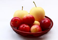 Free Pears And Plums Stock Photo - 15799580