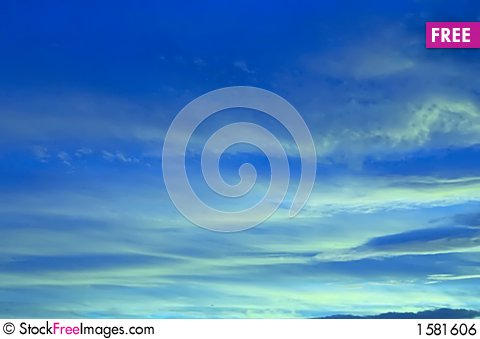 Free Blue Sky Royalty Free Stock Image - 1581606