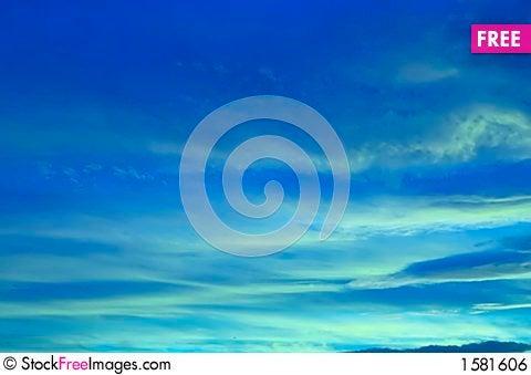 Free Blue Sky Royalty Free Stock Image - 1581606