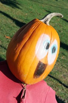 Free Pumpkin Person Stock Images - 1580484
