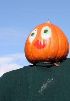 Free Pumpkin Person Stock Image - 1580501