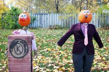Free Pumpkin People Royalty Stock Photography - 1580502