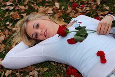 Free Rose Woman. Royalty Free Stock Image - 1581056