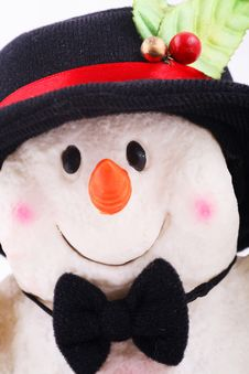 Free Cute Snowman Doll With Hat Stock Image - 1581291