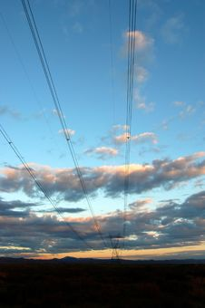 Free Power Lines Royalty Free Stock Photo - 1581825