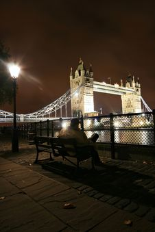 Free London At Night Royalty Free Stock Photos - 1583018