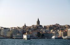 Free View Of The Bosporus And Galata Tower Stock Images - 1583134