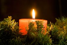 Free Candle Burning Royalty Free Stock Photography - 1584077