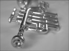 Free Silver Trumpet II Royalty Free Stock Photos - 1585048