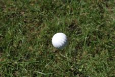 Free Golf Ball Mid Flight Stock Photos - 1585653