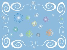 Free Colored Frame With Flakes Stock Image - 1586451