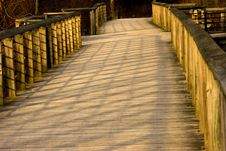 Free Boardwalk And Shadows Royalty Free Stock Images - 1586619