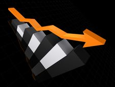 Rising Statistic Stock Photo