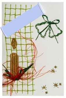 Free Christmas Postcard Handmade Stock Images - 1587304