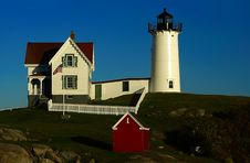 The Nubble Lighthouse Stock Image