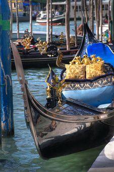 Free Gondola At The Pier. Royalty Free Stock Photo - 1589335