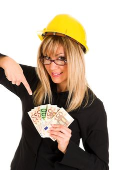 A Businesswoman With Earnings Stock Images