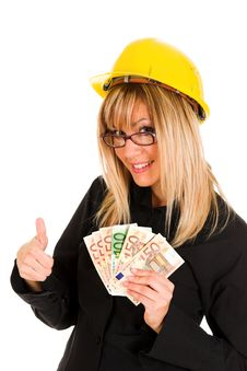 Free A Businesswoman With Earnings Stock Photography - 1589392