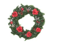 Free Christmas Wreath With Roses Stock Image - 1589671