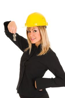 Free A Businesswoman With Keys Stock Images - 1589814