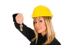 Free A Businesswoman With Keys Royalty Free Stock Photo - 1589845